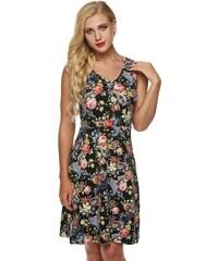 LM moda Letní šaty krátké květované 3575