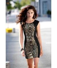 Šaty na párty, šaty zdobené flitry Laura Scott 34 černá