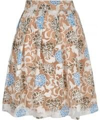 LONDON TIMES Skládaná sukně s květinovým vzorem