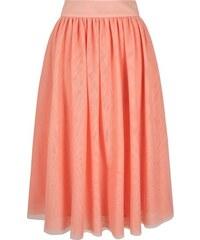 LONDON TIMES Růžová midi sukně z jemného tylu