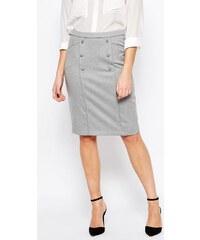 HUSH HUSH Sofistikovaná pouzdrová sukně s knoflíky