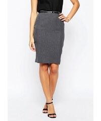 HUSH HUSH Pouzdrová šedá sukně s páskem
