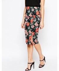 HUSH HUSH Pouzdrová sukně s potiskem květů