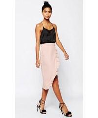 HUSH HUSH Bledě růžová wrap sukně