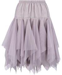 BOOHOO Světle šedá plisovaná sukně Zofia