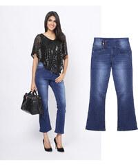 Lesara Jeans bootcut avec taille boutonnée