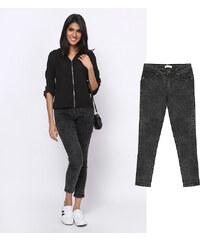 Lesara Knöchellange Skinny-Jeans mit Acid-Waschung - 36