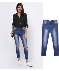 Lesara Hochtaillierte Jeans im Destroyed-Look - 36