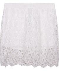Lesara Shorts mit gehäkeltem Rock-Überwurf - Weiß - S