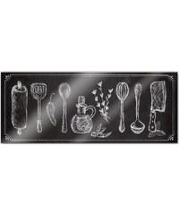 Home affaire Acrylglasbild »Rustic Kitchen - Panorama«, 100/40 cm