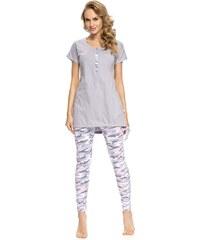 Dobra nocka Dámské pyžamo Army Grey šedá S