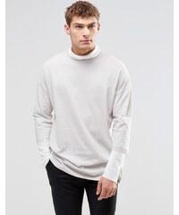 ASOS - T-shirt oversize à capuche avec manches longues à fausse doublure - Vert
