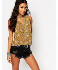 Glamorous - Trägershirt mit Zierausschnitten und Blumenmuster - Mehrfarbig