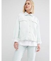 Waven - Karin - Veste en jean coupe boyfriend - Vert