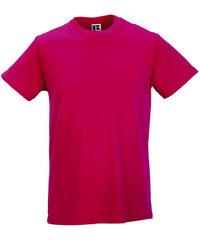 Pánské tričko Slim - Fuchsiová S