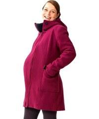 Mamalila zimní vlněný kabát růžový