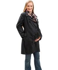 Mamalila celoroční trenčkot těhotenský kabát s vyjímatelnou mikinou černošedý