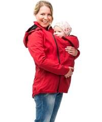 Mamalila letní těhotenská a nosící bunda do každého počasí červená