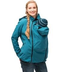 Mamalila softshell těhotenská a nosící bunda pro dva do každého počasí modrozelená