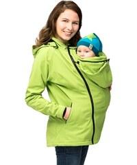 Mamalila softshell těhotenská a nosící bunda pro dva do každého počasí zelená