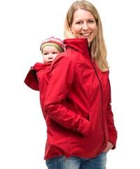 Mamalila softshell těhotenská a nosící bunda pro dva do každého počasí (Sympa Tex) červená