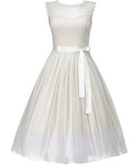 Retro šaty Lindy Bop Aphrodite champagne velikosti: 46