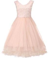 Retro šaty Lindy Bop Anais broskvové velikosti: 46