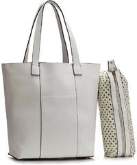 LS fashion dámská kabelka přes rameno LS00467 bílá