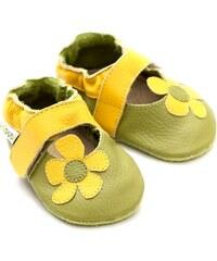 Liliputi kožené capáčky sandálky Kalahari zelené
