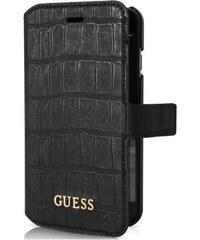 Pouzdro / kryt pro Apple iPhone 6 / 6S - Guess, Shiny Croco Book Black