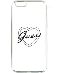 Pouzdro / kryt pro Apple iPhone 6 / 6S - Guess, Signature Heart Silver