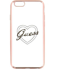 Pouzdro / kryt pro Apple iPhone 6 / 6S - Guess, Signature Heart RoseGold