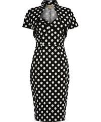 LINDY BOP Dámské pouzdrové retro šaty Zsa Zsa černé
