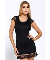 Hamana Elegantní košilka Roxy Black černá XL