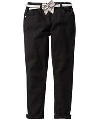 John Baner JEANSWEAR Skinny avec revers bas de jambes et ceinture, T. 116-170 noir enfant - bonprix