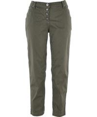 bpc bonprix collection Pantalon chino 7/8 paper touch vert femme - bonprix