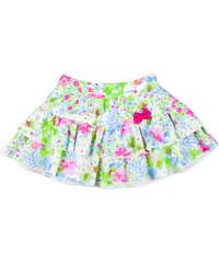 MMDadak Dívčí květovaná sukně s mašlí Miss Popular - barevná