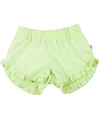 MMDadak Dívčí šortky Butterfly Princess - světle zelené