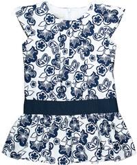 MMDadak Dívčí vzorovaná tunika Granat - modro-bílá