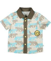 MMDadak Chlapecká košile Tygr - světle šedá