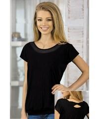 Babell Dámské tričko Chanel z viskózy černá S