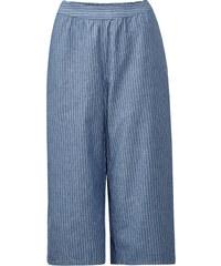 Street One - Jean culotte rayé Joan - mid blue blanc striped