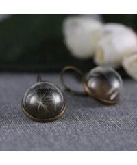 Lesara Ohrhänger mit eingefasster Pusteblume