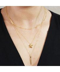 Lesara Mehrreihige Halskette mit Seestern-Anhänger