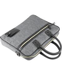 Lesara Business-Tasche mit Reißverschluss-Seitenfächern - Grau