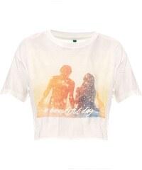 Benetton T-Shirt - naturweiß
