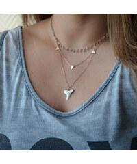 Lesara Dreifach-Halskette mit Anhängerelementen