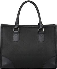 Lesara Business-Handtasche mit Details in Leder-Optik - Schwarz