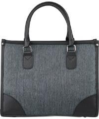 Lesara Business-Handtasche mit Details in Leder-Optik - Grau