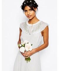 ASOS - WEDDING - Verziertes Cape mit Perlen - Weiß